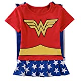 Kiddomania Baby Toddler Boy/ Girl Superhero Bodysuit Romper Onesie Costume (90 (12-18 Months), Wonder Woman)