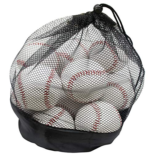 (Tebery 12 Pack Standard Size Youth/Adult Baseballs Unmarked & Leather Covered Suit for Elders, Professional Players)