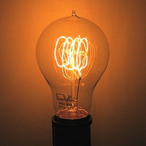Ferrowatt 19202 - 40 watt 240 volt Quad Loop Filament Double Contact Base Ferrowatt (1920) (F1920-4 quad loop 40W 240V B22)