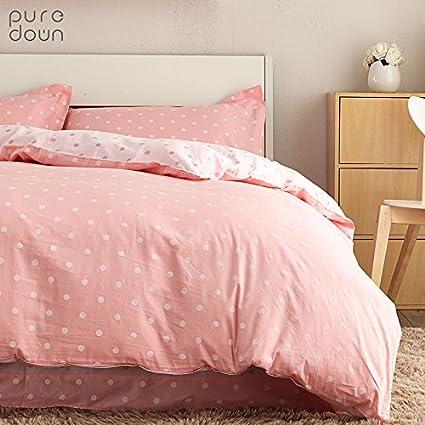 Amazoncom Brandream Pink Polka Dot Bedding Set Girls Bedding Set