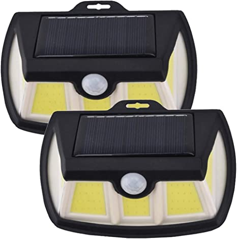 FEE-ZC Outdoor Solar Wall Light Super Bright LED Solar Outdoor Lighting Waterproof Garden Light 3 Wide-Angle Lighting (1 Pack, 90 COB): Amazon.es: Deportes y aire libre