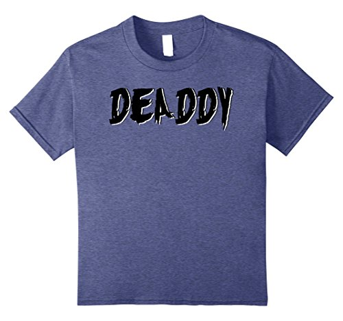 Mommy Daddy Daughter Halloween Costumes (Kids Dad's Deaddy T-Shirt Funny Father's Halloween Costume Party 8 Heather Blue)