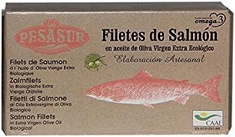 3 x 120 g - Pesasur Lomos Salmón Salvaje Aceite de Oliva ...