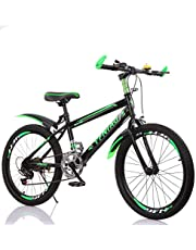 """YFNIAO Unisex Youth 21 speeds Youth Mountain Bike 20"""", Green, Size L"""