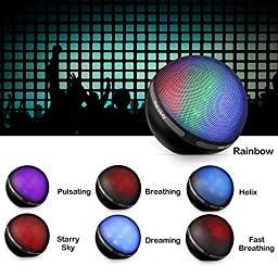 Bluetooth Speaker with Color Changing Led Light, Grade A Hi-Fi Led Bluetooth Speaker, Portable Wireless Speaker Supports Aux & TF Card, Dancing Hip-Hop Party Speaker, for iPhone iPad, Samsung, Tablets