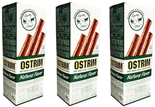 Ostrim Beef & Ostrich Snack Stick Natural Flavor Pack of 30