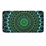 CIGOCI Luxurious Bathroom Rug Plush Texture Non-Slip High Absorbent Shower Rugs 18 x 36 Inch, Psychedelic Tie Dye Home Decor for Living Room Bedroom Kitchen Door Mat