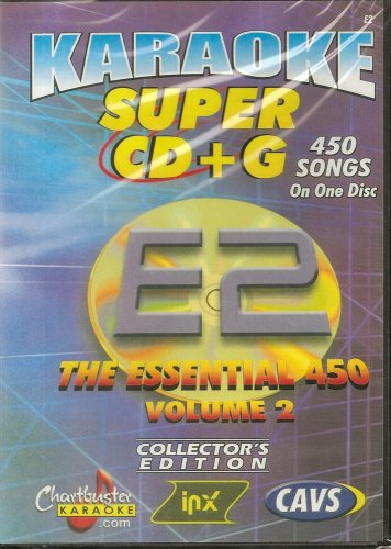 CHARTBUSTER SUPER CD+G Volume #2 - 450 CDG Karaoke Songs Playable on CAVS System or on your PC DVD player using Windows. ()