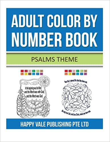 Book Adult ColorBy Number Book: Psalms Theme