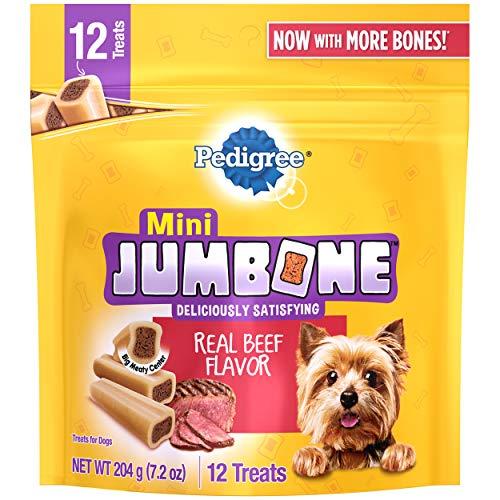 PEDIGREE MINI JUMBONE Small Dog Treats Real Beef Flavor, 21 oz. Pack (35 Treats)
