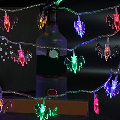 Nightlight,YJYdada Halloween Party Ghost Festival LED Remote Control Bat Lantern String Decoration (Multicolor)