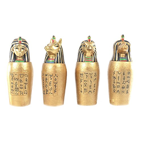 Egyptian Canopic Jars (Gold Egyptian Canopic Jar)