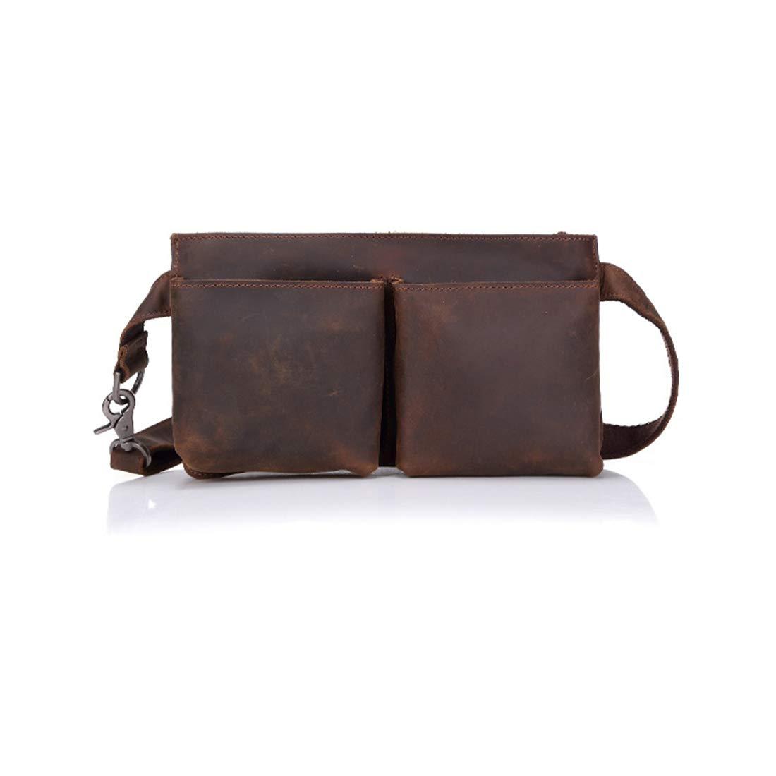 KERVINFENDRIYUN YY3 Hüfttasche Herren sportlich Tasche verstellbar leichte Multifunktions-diagonal Klippe Tasche Leder mit großer Kapazität