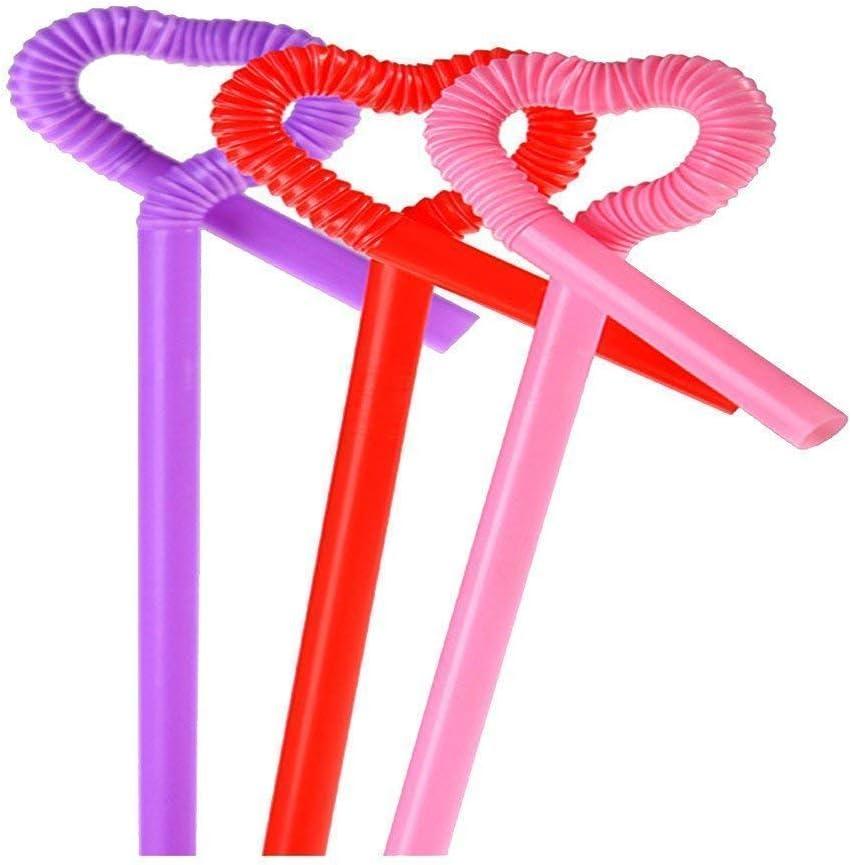 Techrace Flexible Plastic Straws Bulk Drinking Suppliers Disposable Bendy Drinking Straws for Smoothie Milkshake Bubble