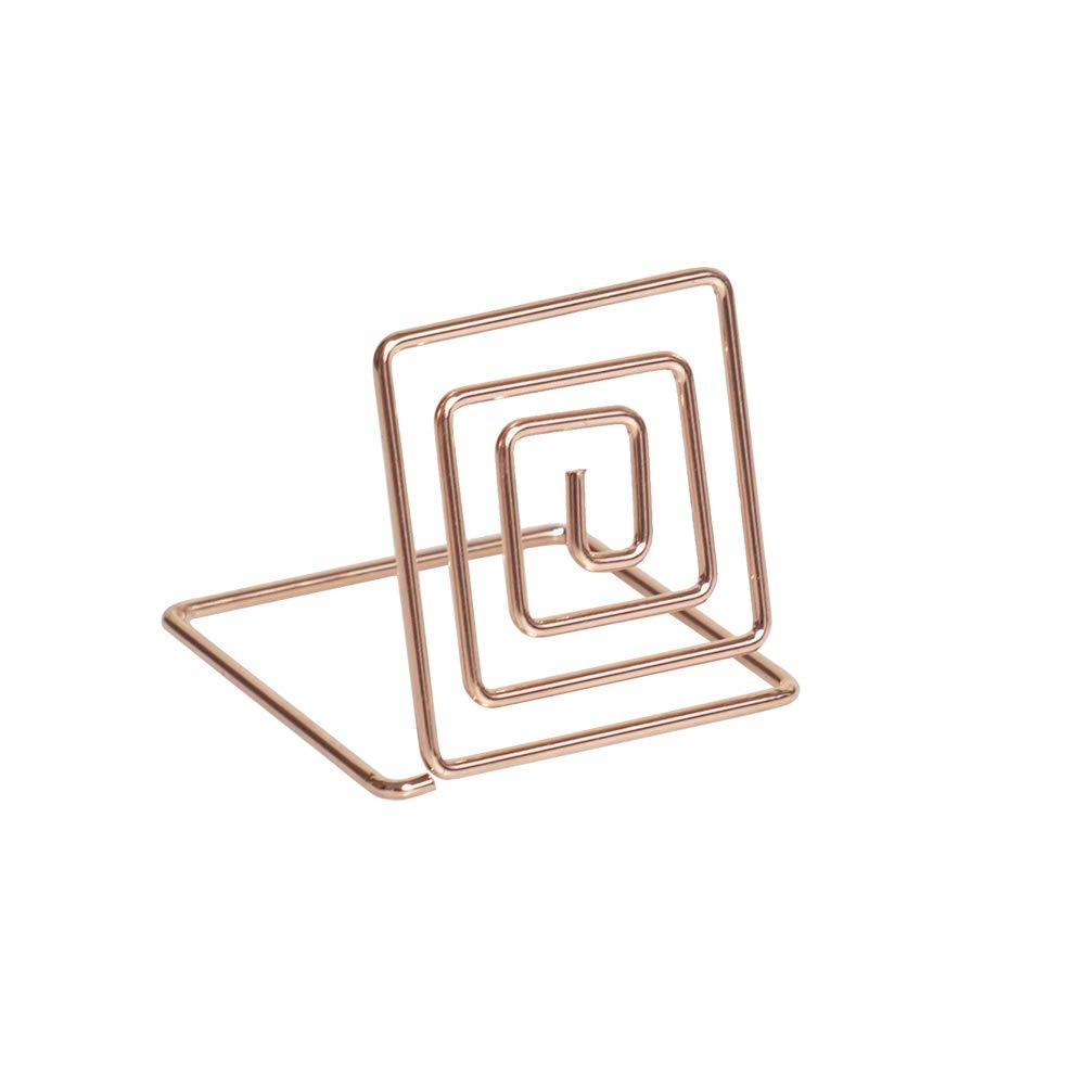 Artliving 20pcs Place Card Holder Memo Holder Clip Photo Holder Table Number Holder Rose Gold