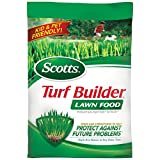 Scotts Turf Builder Lawn Food helps you to build a thick, green lawn. It's formulated with Scotts exclusive All-In-One Particles to provide an even greening and feeding. Using Scotts Turf Builder Lawn Food thickens your grass to crowd out new weeds a...