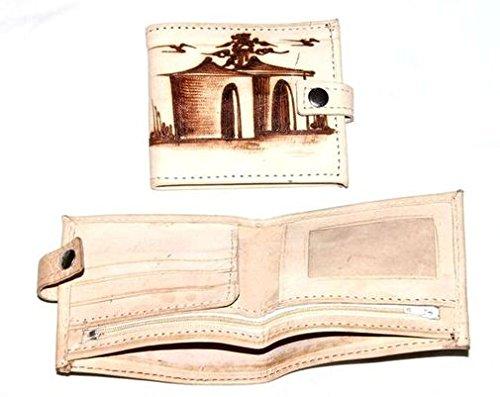 Africa Art Decoration–Porta Foglio in Pelle, motfif Art africano 7471-l2C-2403
