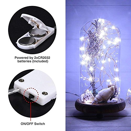 DUKORA 6 PCS Fairy Lights LED String Lights Battery Operated 20 LED 7.2ft Firefly Lights Starry String Lights for DIY Wedding Centerpiece, Christmas Decoration, Bedroom Cool White by DUKORA (Image #7)
