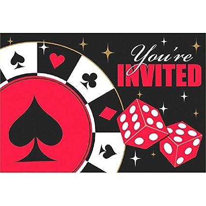amazon com casino party postcard invitations 8 ct toys games