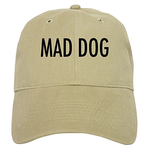 - CafePress - Pet Word Mad Dog - Baseball Cap with Adjustable Closure, Unique Printed Baseball Hat Khaki