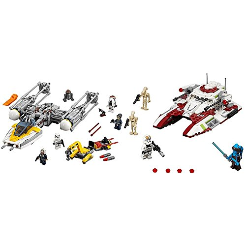 Lego Star Wars Y Wing Starfighter 75172 Star Wars Toy With Lego Star Wars Republic Fighter Tank 75182 Building Kit Bundle