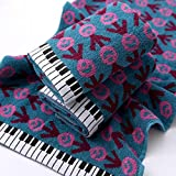 Kuning Piano Hand Towel, Cotton Face Towel 29''x13'' (76 x 34 cm) (Blue)