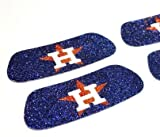 Houston Astros MLB Glitter Eye Black Strips, Perfect for Game Day and Tailgate (6 Pairs/12 Strips)