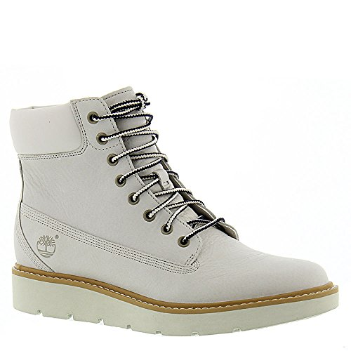 Timberland Women's Kenniston 6'' Lace Up Boot,White Full Grain Leather,US 9.5 M by Timberland