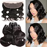 HUA Hair Body Wave Hair with Frontal, 8A Virgin Hair Peruvian Body Wave 3 Bundles with Lace Frontal Closure(13×4) Unprocessed Virgin Human Hair 50g/Bundle with Frontal Natural Color(8 8 8+8 frontal) Review