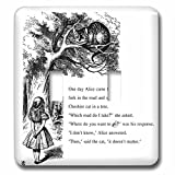 3dRose lsp_193782_2 Which Road Do I Take Cheshire Cat Alice in Wonderland - John Tenniel Double Toggle Switch
