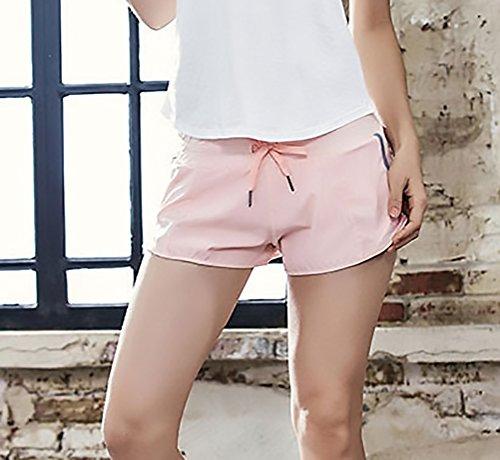 Ragazza Shorts Rosa Coulisse Moda Sportivi Tasca Di Estivi Sportiva Abbigliamento Casuali Larghi Pantaloni Donne Con Comfort Traspirante Solido Donna Palestra Jogging Pantaloncini Colore Elegante gaqfxwzYa