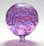 Glass Gazing Ball''Purple'' 12 Inch by Iron Art Glass Designs