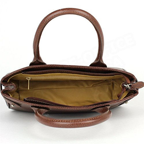Mini sac Cabas Shopping Paris cuir Marron Beaubourg