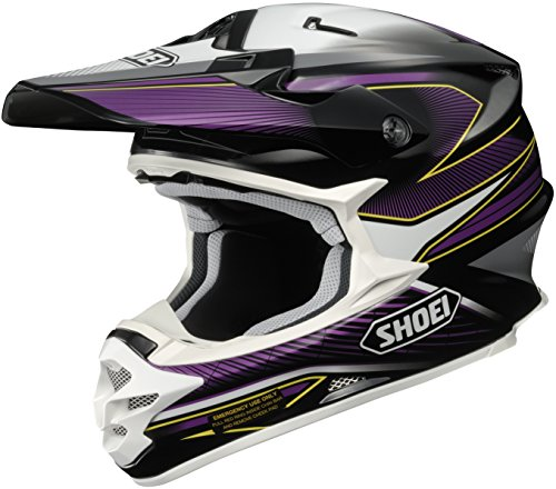(Shoei VFX-W Sear Off-Road Helmet (Black/Purple/White, Large))