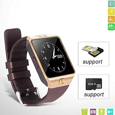 Denshine reloj movil un inteligente reloj puede llamar telefono con precio economico un buen reloj smartphone (smartwatch phone) solo para usted: Amazon.es: ...