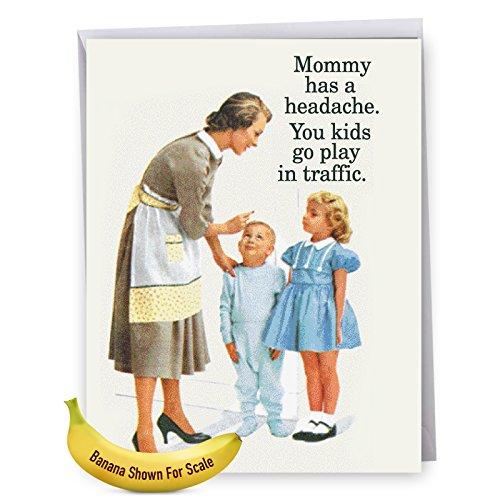 J7203MDG Jumbo Funny Mothers Card