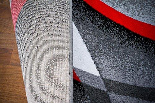 2305 Multi Beige Red Black Area Rug Carpet Modern Abstract Rug