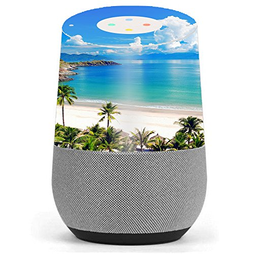 Skin Decal Vinyl Wrap for Google Home stickers skins cover / Tropical Paradise Palm Trees by itsaskin1