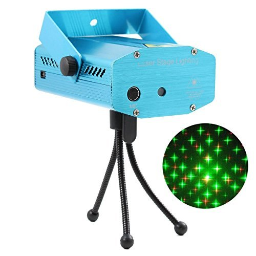 R&G Super Mini Projector DJ Disco LED Light Stage Party Laser Lighting Show Plug from unbrand