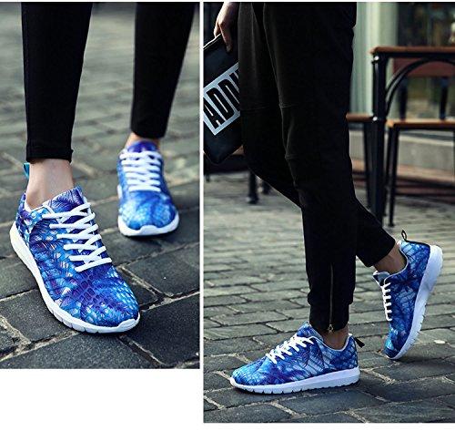 2017 Nieuwe Koreaanse Vrouwen Heren Casual Flats Schoen Running Sport Ademende Air Mesh Schoenen Qm2 Blauw