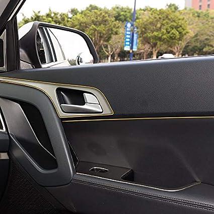 5M Car Styling Decorazione Interna Strisce Modanatura Trim Dashboard Bordo Porta Universale per Auto Accessori Auto Electroplated Silver 5 m ETbotu Car Trim Strip,Strisce Decorative per Auto