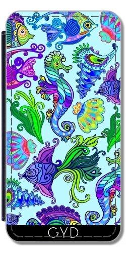Leder Flip Case Tasche Hülle für Apple Iphone 7 Plus / 8 Plus - Marines Leben Exotische Fische by BluedarkArt
