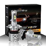 BROVIEW V8 LED Headlight Bulbs w/ Clear Arc-Beam Kit 72W 12,000LM 6500K White Cree LED Light Bulbs for Replace HID & XENON Headlights (2pcs/set) (H4,9003)