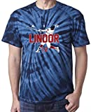 "The Silo TIE DIE NAVY Cleveland Francisco Lindor ""AIR"" T-Shirt"