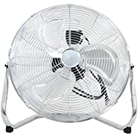 Smartxchoices 18 Silver Portable Heavy Duty High Velocity 110V Cyclone Floor Fan Commerical Industrial Home Use