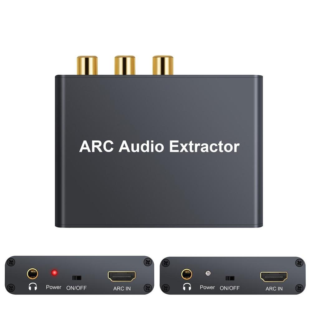 US-PopTrading HDMI ARC Audio Adapter,192KHz HDMIExtractor Digital to Analog SPDIF RCA Converter Extractor 3.5mm L/R Stereo Audio Converter for HDTV Soundbar Speaker Amplifier