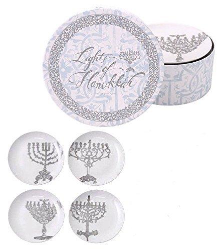 Jewish Museum Lights of Hanukkah Elegant Plates, Set of 4 ()