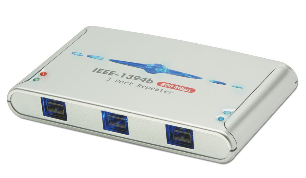 LINDY 3 Port FireWire 800 Repeater Hub: Amazon.co.uk: Computers ...