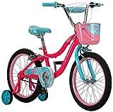 Schwinn Elm Girls Bike for Toddlers and Kids, 18-Inch Wheels, Pink