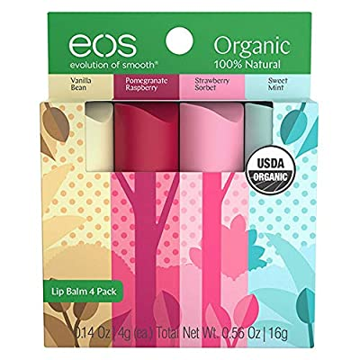 eos Natural & Organic Stick Lip Balm | Variety Pack | Strawberry Sorbet, Sweet Mint, Vanilla Bean, and Pomegranate Raspberry | Certified Organic & 100% Natural | 0.14 oz. | 4-Pack - 4013009 , B07KYVQV83 , 454_B07KYVQV83 , 11.99 , eos-Natural-Organic-Stick-Lip-Balm-Variety-Pack-Strawberry-Sorbet-Sweet-Mint-Vanilla-Bean-and-Pomegranate-Raspberry-Certified-Organic-100Phan-Tram-Natural-0.14-oz.-4-Pack-454_B07KYVQV83 , usexpress.vn ,